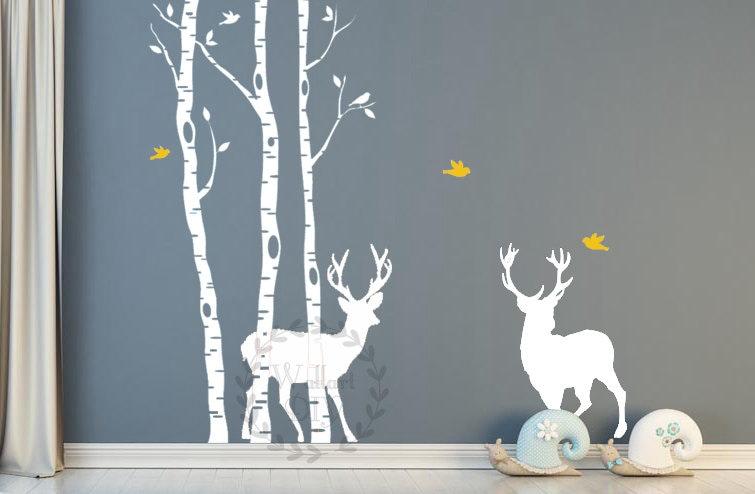Arbre mural Stickers bouleau arbre murales sticker mural arbre