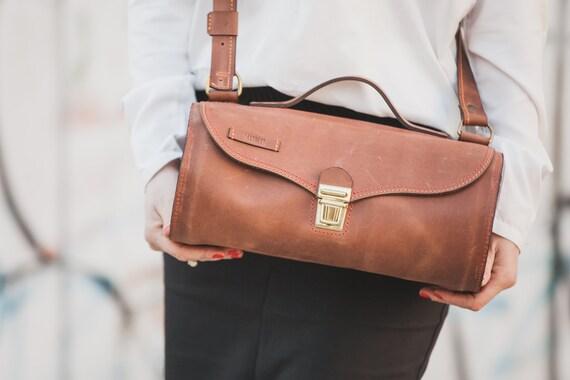 Tubular Doctor bag, Cross Body Bag, Leather Bag, Handmade Leather Bag, Crossbody bag