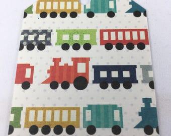 Choo Choo Train Tags - set of 7