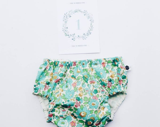 LIBERTY ROSA BLOOMERS / nappy cover /  diaper cover constructed in Liberty print Betsy D