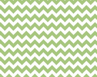 Riley Blake Designs Small Chevron in green 100% Quilters Cotton Available in Yards, Half Yards and Fat Quarters