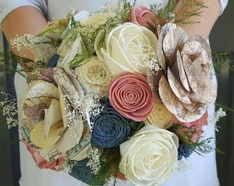 Sola wood bouquet,  travel bouquet,  map flower, paper flower,  adventure bouquet, wanderlust bouquet, vintage flowers,  old world gift