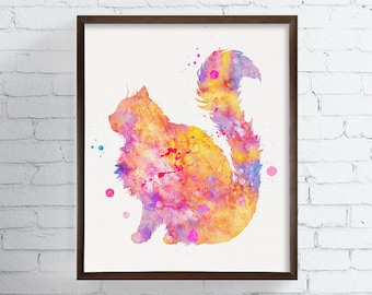 Ragdoll Art - Ragdoll Watercolor - Ragdoll Print - Watercolor Cat - Cat Art Print - Cat Decor, Cat Lover Gift, Cat Painting, Cat Wall Decor