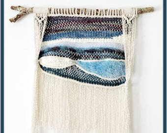 Precious and plain wall macrame and woven wall hanging