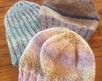 Children's hand knitted beanie hats H107, H108, H109