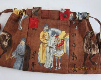 Stricken Tasche Schürze - sofort lieferbar - Uma Phillip de Leon Alexander Henry 1998 seltene asiatische Grenze Print Stoff