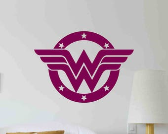 Wonder Woman Wall Decal Superhero Logo Gifts Comics Movie Vinyl Sticker Home Girl Bedroom Decor Nursery Poster Art Mural Custom Print 683