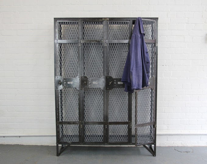 Early 20th Century Factory Lockers By Wall's Limited Circa 1900