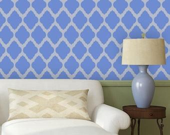 Moroccan Wall Stencil Rabat Allover Trellis Stencil for DIY Wallpaper Home Decor