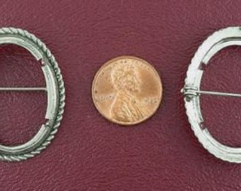 silver plated 30x22  antique rope cabochon pin mounting