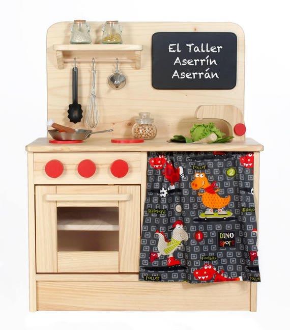 Cocina de juguete para ni os de madera natural cocinita para for Cocina ninos juguete