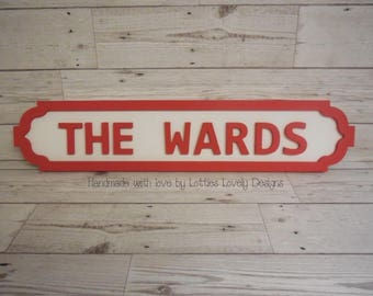 Family road signs / street signs / home decor signs / fun family name signs / traditional classic road sign / kids bedroom door sign