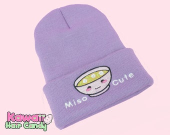 Miso Cute Hat / Super Cute Kawaii / Hats For Women / Knitted Beanie / Japanese Clothing / Sweet Lolita / Kawaii Clothing / Womens Clothing