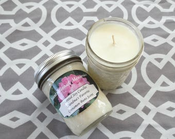 Cinnamon Buns 8 ounce Scented Soy Candles Set of Two Cinnamon Rolls Scented Soy Wax Candle Set