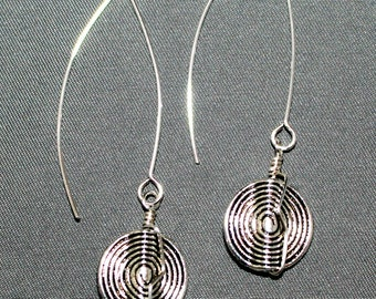 Pewter V-Wire Earrings
