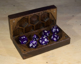 Mini Dice Box for DND, Dungeons and Dragons, RPG, Dice Case, D20