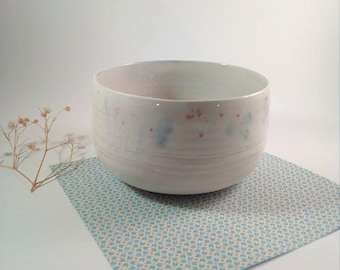 Cup-bowl-bowl-breakfast cup-tea-ceramic bowl-Japanese style-white bowl-with love by handmade by franziceramics