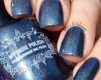Teal holographic nail polish - vegan - the anniversary  5ml