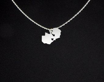 Zambia Necklace - Zambia Jewelry - Zambia Gift