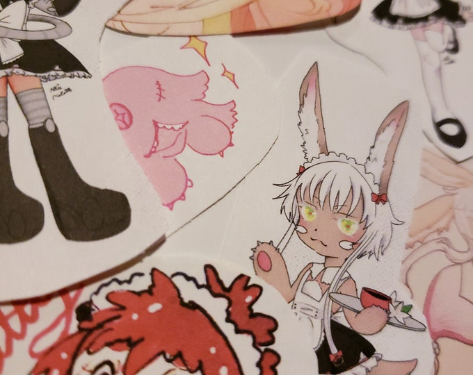 Made in abyss sticker pack - Reg, Riko, Nanachi, Mitty