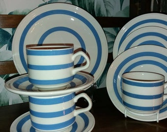 Cornish Ware place setting by Carrigaline Pottery.