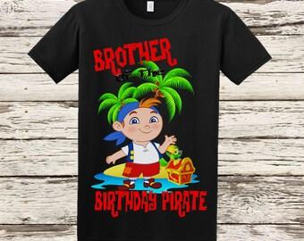 Jake and the Neverland Pirates Brother Shirt - Jake Birthday Shirt