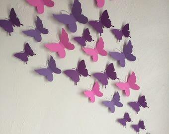 3D Butterflies /Wall Decor/ Nursery Decor ***Customize Your Order!!!