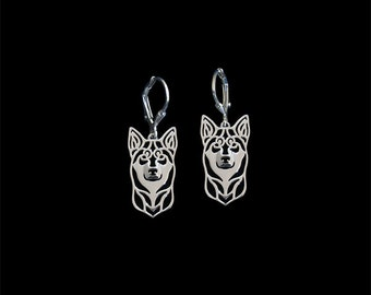Lapponian Herder (Lapinporokoira) earrings - sterling silver