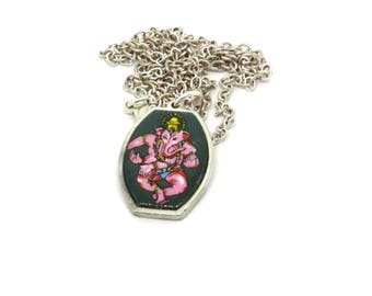 Ganesh necklace,  Wisdom necklace, elephant necklace, ganesha necklace, india necklace, hindu necklace