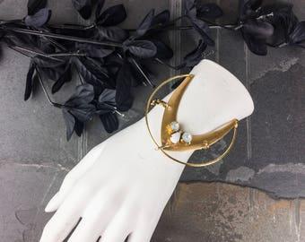 gold art deco bracelet opal stone bracelet gold cuff bracelet opal bracelet gold boho gold bracelet boho brass cuff  | eclipse cuff bracelet