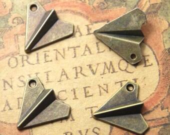 15pcs Airplane charms bronze Tone,airplane charm pendant 17x19mm ASD1202
