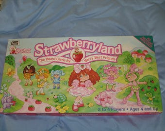 1992 Strawberry Shortcake Strawberryland Board Game by RoseArt