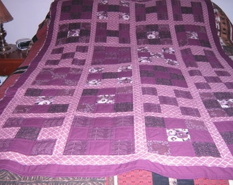 Eggplant Variety Throw Quilt