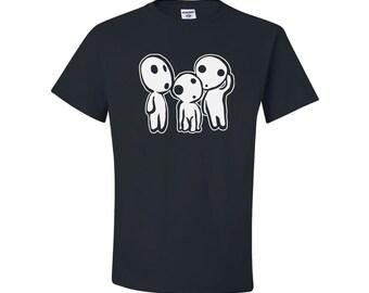 Anime Shirt, Kodama Logo, Anime T-Shirt, Anime Cosplay, Anime Otaku T-Shirt, Anime, white forest spirit, studio ghibli, mononoke shirt, gift