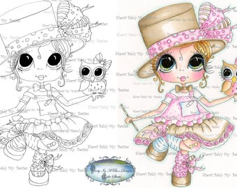 INSTANT DOWNLOAD Digi Stamps Big Eye Big Head Dolls Digi IMG917 By Sherri Baldy