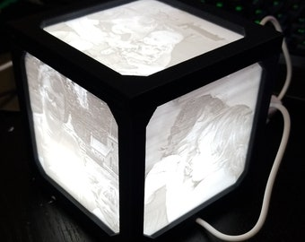 Lithophane Photo Cube