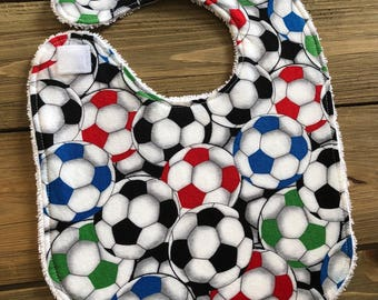 Baby Bib - Soccer Bib - Baby Shower Gift - Cotton Bib