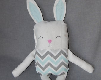 Stuffed, fabric bunny rabbit ~ made to order