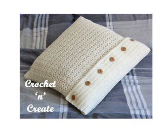 Throw Pillow Cover Crochet Pattern (DOWNLOAD) CNC43