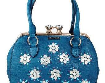 Statement Bag - YELLOW ON TEAL FLOWERS by VIDA VIDA uiOr7IN