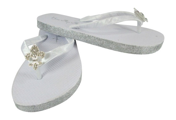 in Gold Champagne Flops Sandals Wedding Copper Wedges Jeweled Glitter Flip Flip Flat Flops Silver Ivory White qxpRfwwtn6