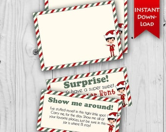 ON SALE!! Elf Stationary   Elf Note Cards   Elf Messages   Includes Blank and Editable notes {instant download}