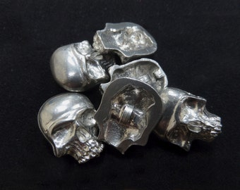 Pewter Skull Buttons