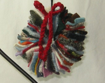 Felted Wool Wreath Ornament FREE SHIP USA