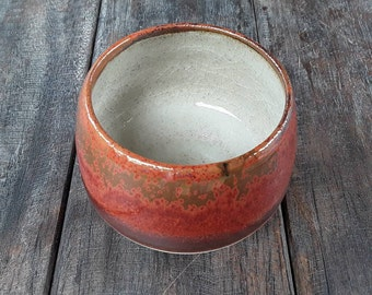 Red glazed bowl