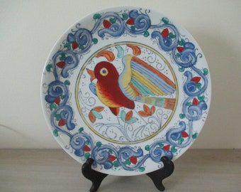 Mid Century Asian Hand Painted Plate Made in China WBI