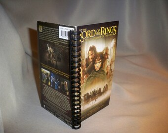 Lord of the Rings The Fellowship of the Ring VHS notebook