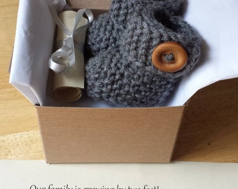Baby Booties, Pregnancy announcement, Baby reveal idea, Baby Ugg Boots, Crochet booties, SHIP SAME DAY !