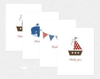 Nautical Thank You Cards - Set of 8