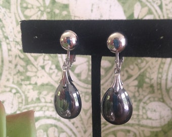 Emmons Drop Earrings, Glass Tear Drop